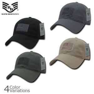 RAPID DOMINANCE(ラピッドドミナンス) 刺繍 アメリカ フラッグ Tonal Flag ベースボールキャップ A03-1TSA swat