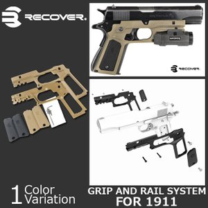 RECOVER TACTICAL(リカバー タクティカル) CC3P Grip and Rail System for the 1911 ネコポス対応|swat