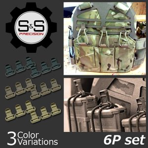 S&S Precision Pull Tabs プルタブ 6個セット PT-D601 【クロネコDM便対応】|swat