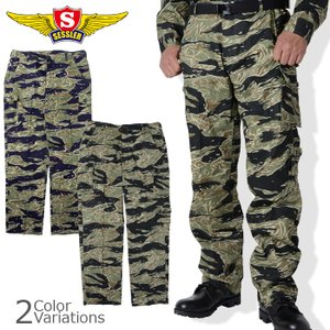 SESSLER(セスラ) TIGER STRIPE PANTS 7POCKETS タイガーストライプパンツ 7ポケット (Ver.03) 【中田商店】【A-1095,A-1096】 swat