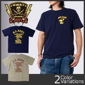 SWAT ORIGINAL(スワットオリジナル) ミリタリー メンズ半袖Tシャツ NAVY SEALS