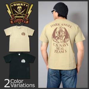 "SWAT ORIGINAL(スワットオリジナル) NAVY SEAL TEAM 3 ALPHA PLATOON "" DARK ANGEL "" メンズ半袖 Tシャツ シールズ|swat"