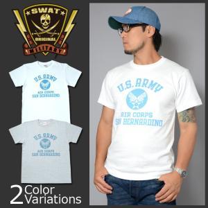 SWAT ORIGINAL(スワットオリジナル) U.S.ARMY AIR CORPS アメリカ陸軍航空隊 半袖 メンズ ライトウェイト Tシャツ|swat