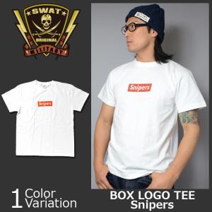 SWAT ORIGINAL(スワットオリジナル) ボックス ロゴ Tシャツ SNIPERS スナイパー|swat