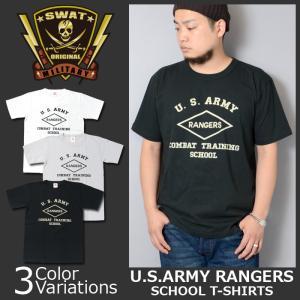 SWAT ORIGINAL(スワットオリジナル) U.S.ARMY RANGERS COMBAT TRAINING SCHOOL レンジャー スクール Tシャツ|swat