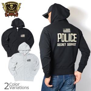 SWAT ORIGINAL(スワットオリジナル) U.S. SECRET SERVICE POLICE ZIP PARKA 10zo シークレットサービス ポリス フルジップ パーカー|swat