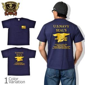 SWAT ORIGINAL(スワットオリジナル) U.S NAVY SEAL Budweiser ネイビー シールズ バドワイザー バックプリント Tシャツ 半袖|swat