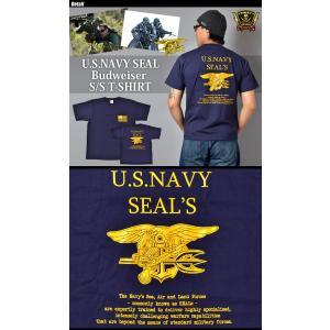 SWAT ORIGINAL(スワットオリジナル) U.S NAVY SEAL Budweiser ネイビー シールズ バドワイザー バックプリント Tシャツ 半袖|swat|02