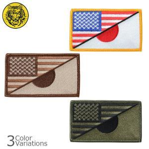 タイガーエンブ U.S.FLAG / JAPAN スプリット パッチ アメリカ 日本 ミリタリーパッチ 【ネコポス】|swat