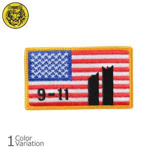 タイガーエンブ U.S.FLAG 9.11 メモリアル 星条旗 パッチ ミリタリーワッペン 【ネコポス】|swat