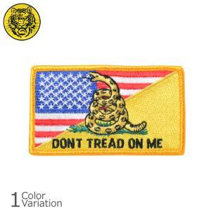 タイガーエンブ U.S.FLAG / DON'T TREAD ON ME スプリット 星条旗 パッチ ミリタリーワッペン 【ネコポス】|swat