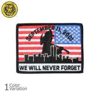 タイガーエンブ U.S.FLAG WE WILL NEVER FORGET 9.11 メモリアル パッチ リバース ミリタリー ワッペン 【ネコポス】|swat