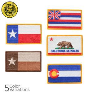 タイガーエンブ アメリカ州旗 パッチ ミリタリーワッペン 【ネコポス対応】|swat