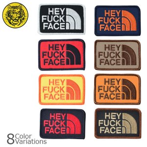 タイガーエンブ HEY FUCK FACE パッチ ミリタリーワッペン 【ネコポス】|swat