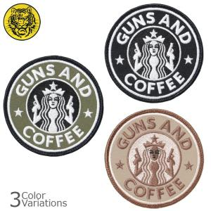 タイガーエンブ GUNS AND COFFEE ガンズ アンド コーヒー パッチ ミリタリーワッペン ネコポス対応|swat