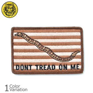 タイガーエンブ ファースト ネイビー ジャック DONT TREAD ON ME パッチ ラージ ネコポス対応|swat