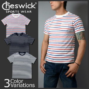 TOYO ENTERPRISE(東洋エンタープライズ) CHESWICK 半袖 ボーダーポケット Tシャツ CH76659|swat