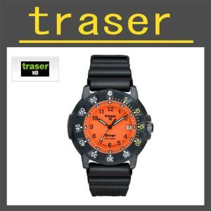 正規品 【大特価!1年保証】traser  ダイバーオレンジ P6504 |swat