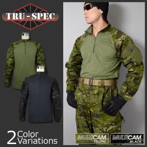 TRU-SPEC(トゥルースペック) 1/4 ZIP コンバットシャツ MULTICAM マルチカムファミリー 【中田商店商品取扱店】A-1132,A-1172|swat