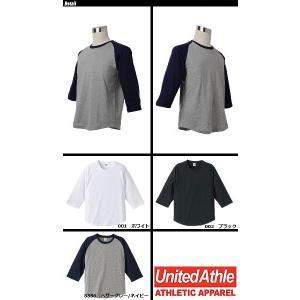 United Athle(ユナイテッドアスレ) 5.0オンスラグラン3/4スリーブTシャツ 5404 swat 03