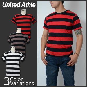 United Athle(ユナイテッドアスレ) 5.0oz ボールドボーダーショートスリーブTシャツ 5518-01|swat
