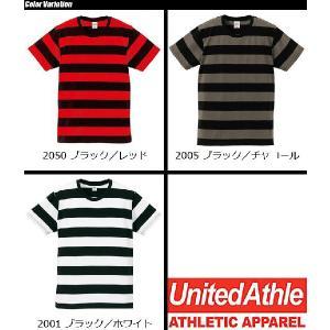 United Athle(ユナイテッドアスレ) 5.0oz ボールドボーダーショートスリーブTシャツ 5518-01|swat|04