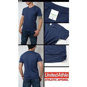 United Athle(ユナイテッドアスレ) 4.7オンス ファインジャージー Vネック Tシャツ 5495-01 swat 02