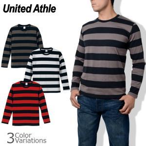 United Athle(ユナイテッドアスレ) 5.0oz ボールドボーダーロングスリーブTシャツ 5519-01 swat