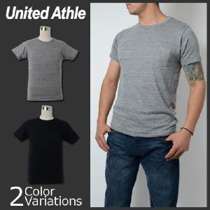 United Athle(ユナイテッドアスレ) 4.4オンス トライブレンド Tシャツ(ポケット付) 1291-01 swat