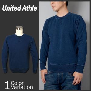 United Athle(ユナイテッドアスレ) 12.2オンス  クルーネック デニムスウェット(パイル) 3906-01 swat