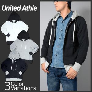 United Athle(ユナイテッドアスレ) 8.4オンス ファインフレンチテリースウェット カラーコンビネーション フルジップ パーカ(パイル)5187 swat