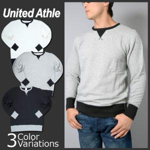 United Athle 8.4オンス ファインフレンチテリー カラーコンビネーション クルーネック スウェット(パイル)5189|swat
