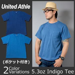 United Athle(ユナイテッドアスレ) 5.3オンス インディゴ Tシャツ(ポケット付) 3991-01 swat