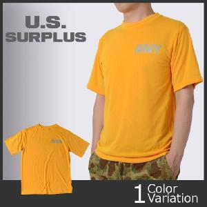 U.S SURPLUS(USサープラス) 米軍実物 海軍トレーニング用 Tシャツ 【AS-227】|swat