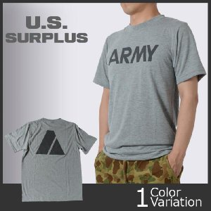 U.S SURPLUS(USサープラス) 米軍実物 U.S. ARMY PT Tシャツ 【AS-264】|swat