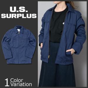 U.S SURPLUS(USサープラス) 米軍放出未使用品 NAVY UTILITY JACKET 海軍 ユーティリティ ジャケット|swat