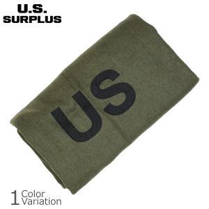 U.S SURPLUS(USサープラス) 米軍放出未使用品 ウール毛布 U.S.刺繍入り AS-663|swat