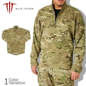 WILD THINGS(ワイルドシングス) コンバットソフトシェル プルオーバー - SO 1.0 マルチカム50160WTI|swat