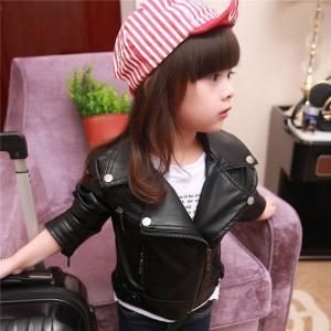 レザージャケット キッズ コート アウター ジュニア ライダースジャケット 女の子 女児 子供服 ブルゾン かわいい bbgirls-004