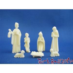 ミニチュア 白いネイティビティ 【キリスト降誕】 6ピースセット DH4601 ドールハウス用