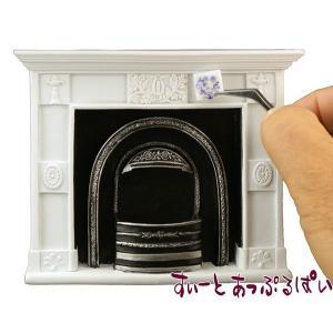 ミニチュア 【ロイターポーセリン】 白い暖炉 RP1787-0 ドールハウス用