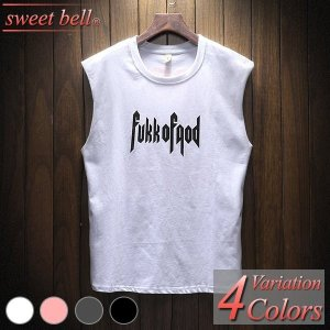 タンクトップ メンズ Tシャツ カットソー ノースリーブ 大きいサイズ おしゃれ 綿 夏 Vネック クルーネック アメカジ ボーダー ロゴT ラグラン プリント sweet-bell