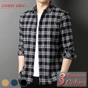 シャツ メンズ 長袖 春 秋 冬 カジュアルシャツ 柄シャツ 大きいサイズ 3L 4L 小さいサイズ XS SS おしゃれ きれいめ ボタンダウン オックスフォード|sweet-bell