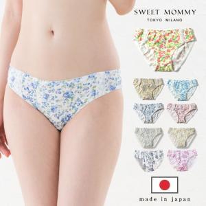 ショーツ 産後 花柄 フラワープリント パンツ 上下セットで500円オフ 普通身幅 産後用 単品 メール便可[M便 2/6]|sweet-mommy
