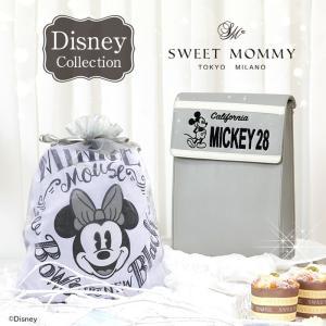 スウィートマミー限定 ディズニーデザイン おむつケーキ ミッキー&ミニー ママバッグ 授乳ケープ ベビー ギフト ベビーカー|sweet-mommy