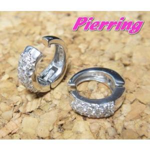 【予約】【ランキング5位】【耳が痛くないピアリング】定番デザインのパヴェイヤリングK18計0.30ctダイヤモンドイヤリング【デイリー,イヤリング-ホワイトゴール|sweet-p