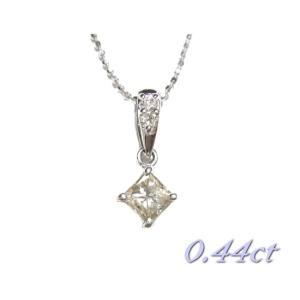【限定】揺れるファンシースクエア計0.44ctUPダイヤモンドネックレス|sweet-p
