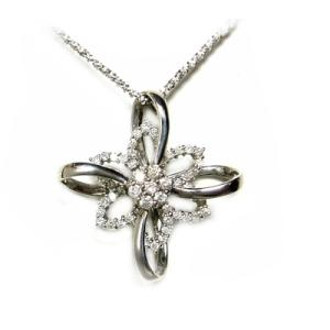 【予約】【大型スイング】宇宙の星のような計0.80ctダイヤモンドペンダントトップ|sweet-p