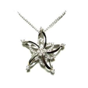 【予約】【大型スイング】可愛い星型☆計0.95ctダイヤモンドペンダントトップ|sweet-p