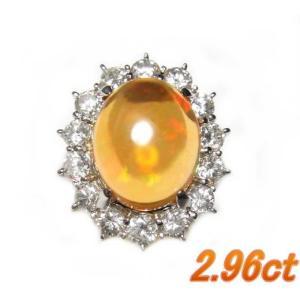 【限定】【鑑別書付き】最高の浮遊効果!豪華取り巻きPt2.96ctメキシコオパール&ダイヤリング|sweet-p